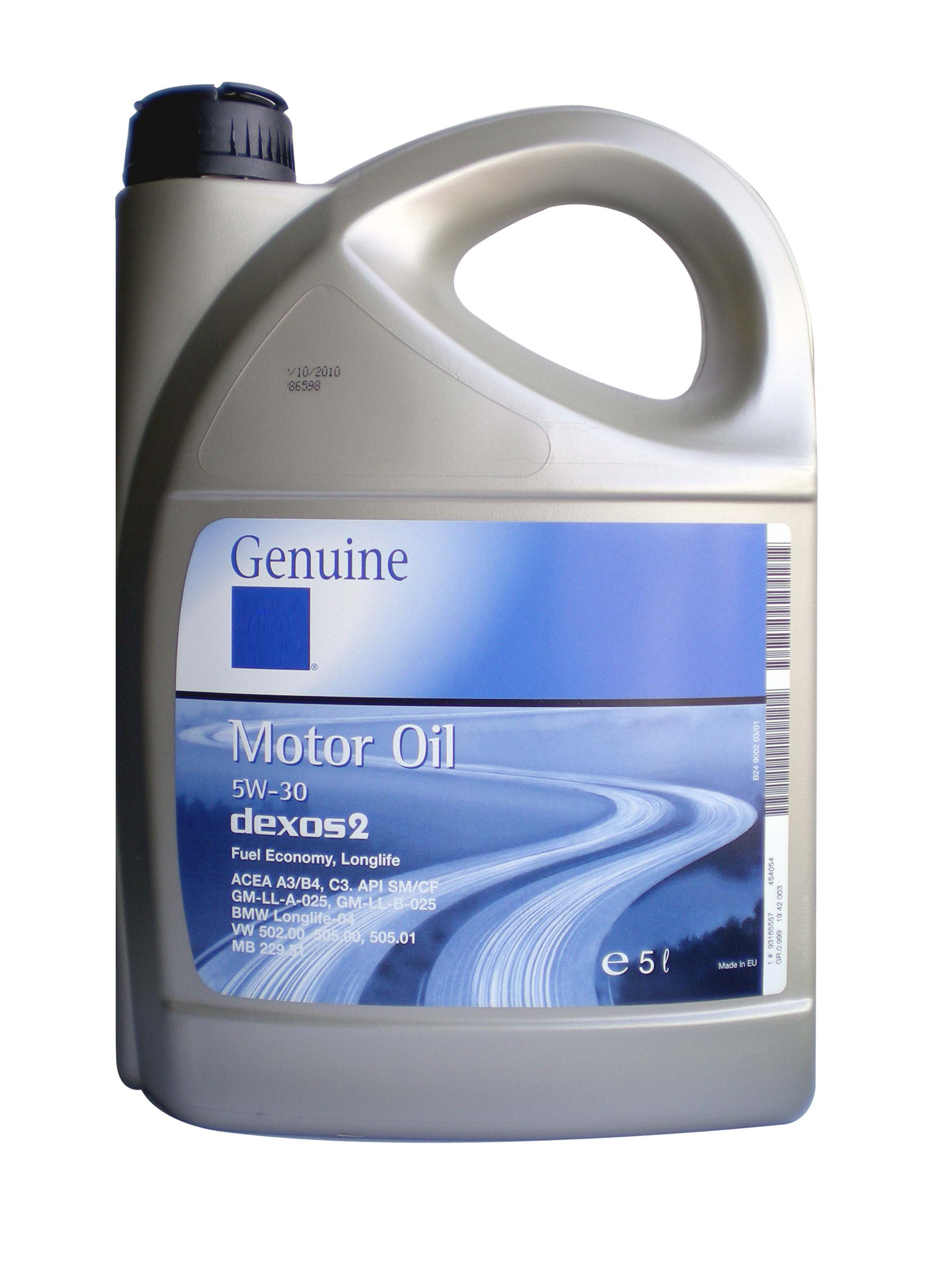 General Motors Motor Oil Dexos 2